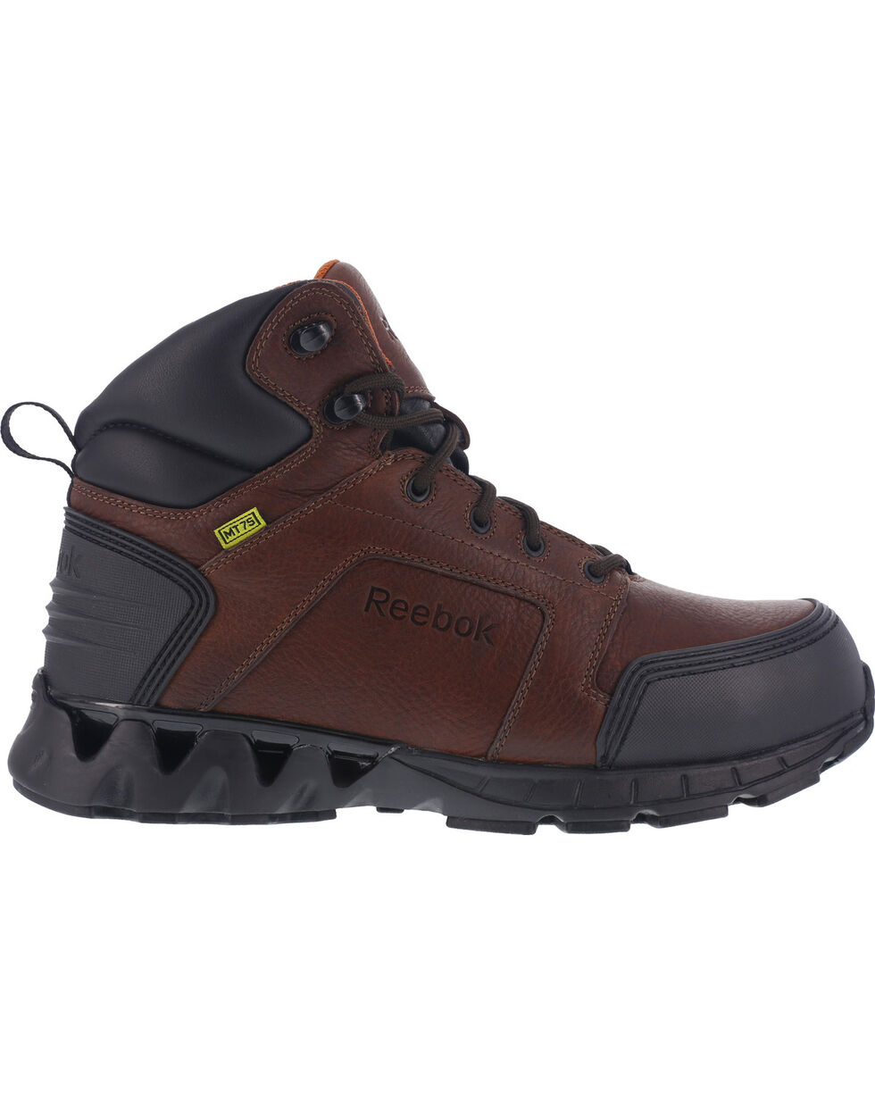 "Reebok Men's Athletic 6"" Hiker Boots with Met Guard - Carbon Toe, Brown, hi-res"