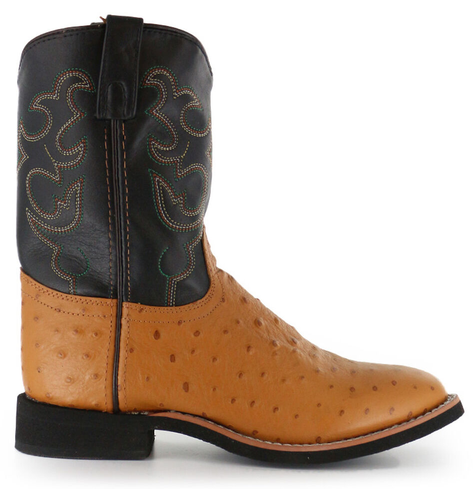 Cody James Youth Boys' Ostrich Print Western Boots - Round Toe, , hi-res