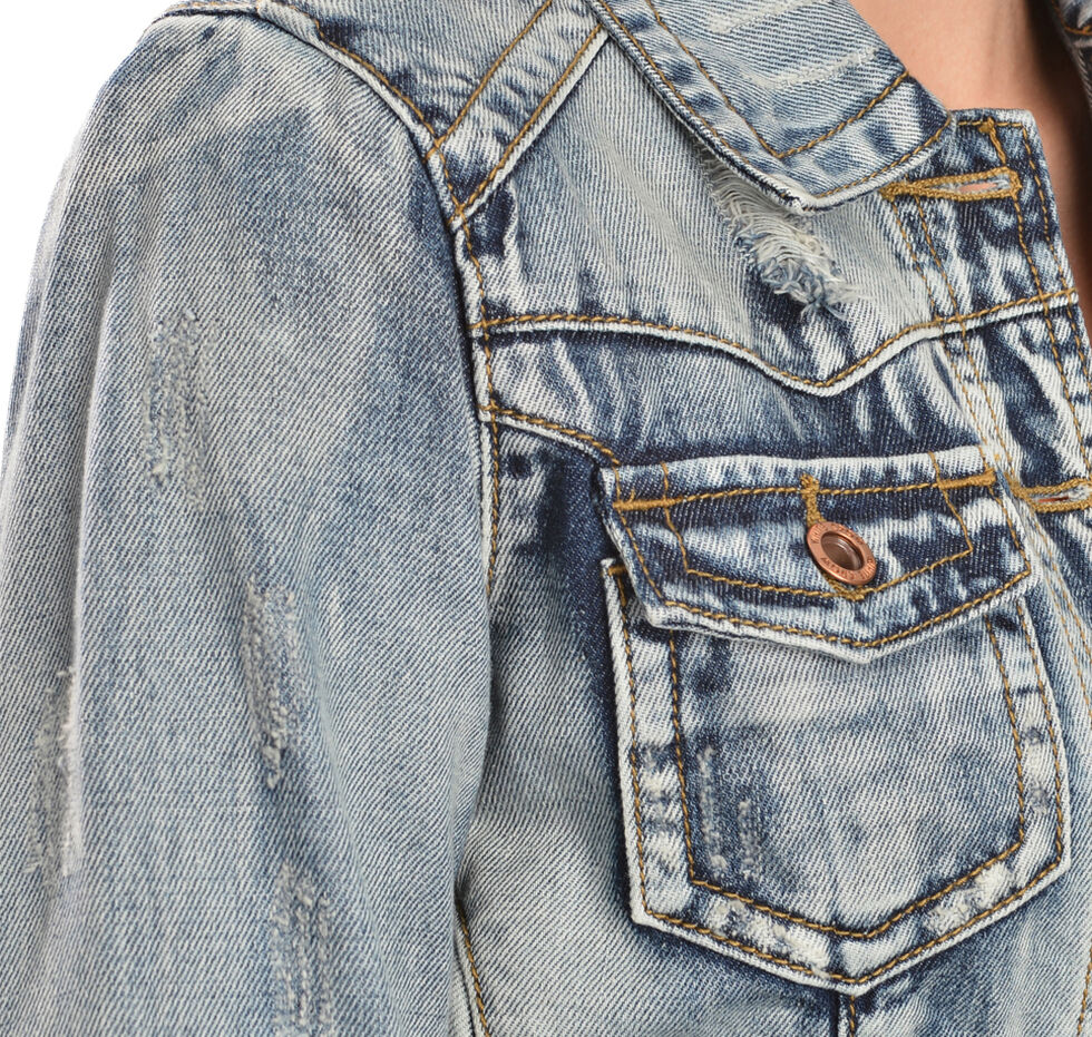 White Crow Women's Ciggy Denim Jacket, Indigo, hi-res