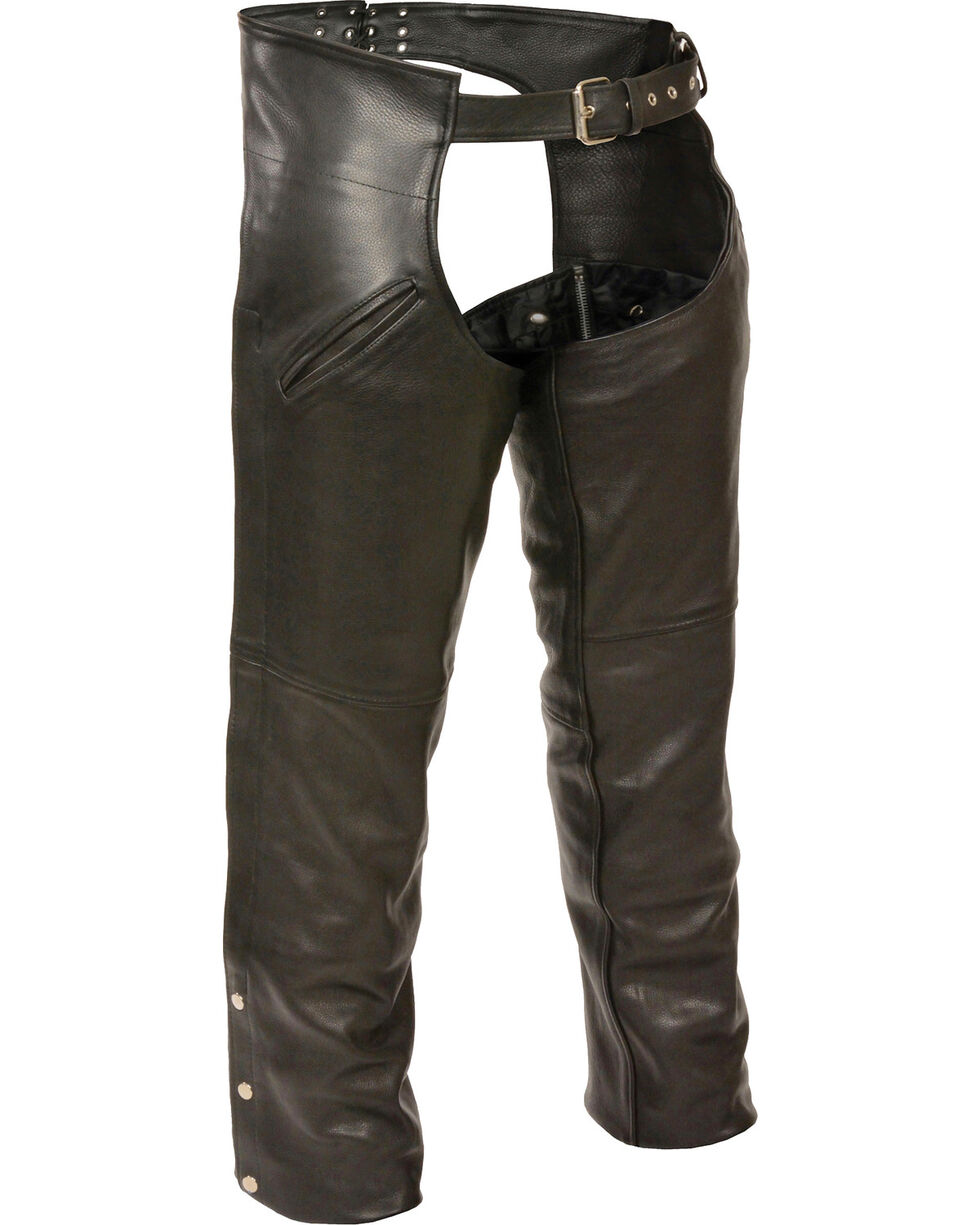 Milwaukee Leather Men's Slash Pocket Thermal Liner Chaps - 3X, Black, hi-res