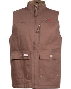 Rocky WorkSmart Men's Canvas Vest, Brown, hi-res