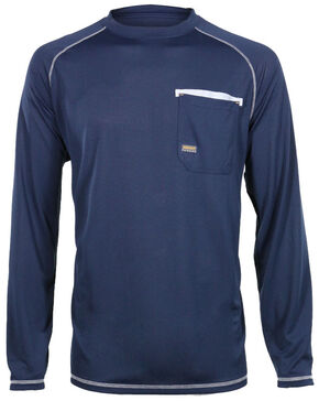 Ariat Men's Rebar Sun Stopper Long Sleeve Shirt , Navy, hi-res