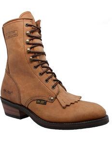 """Ad Tec Men's 9"""" Packer Work Boots - Soft Toe, Tan, hi-res"""