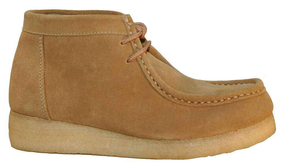 Roper Women's Tan Suede Chukka Gum Lace-Up Casual Shoes - Round Toe, Sand, hi-res