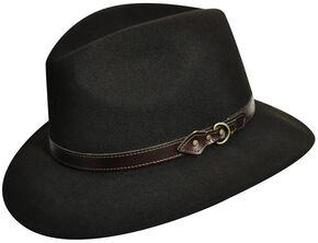 Country Gentleman Men's Brown Dunmore Fedora , Brown, hi-res
