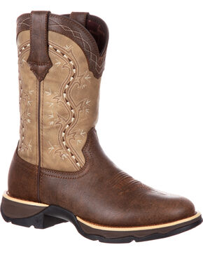 Durango Women's Brown Lady Rebel Western Boots - Round Toe , Brown, hi-res