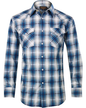 Pendleton Men's Wire Plaid Long Sleeve Shirt, Grey, hi-res