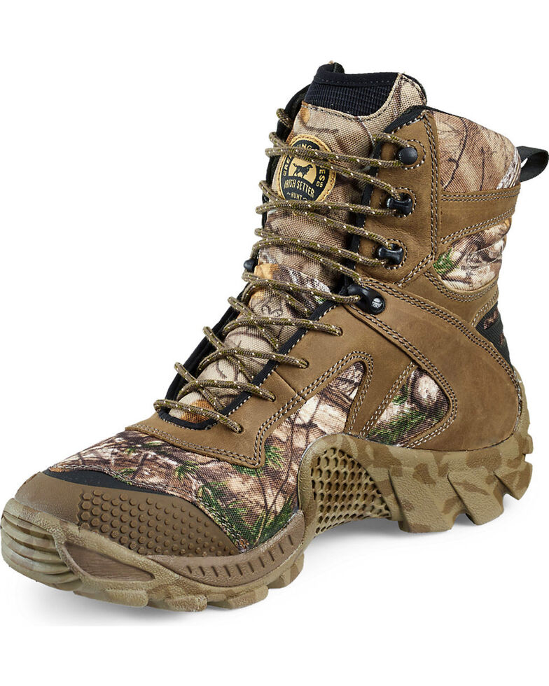 """Irish Setter by Red Wing Shoes Men's Realtree Xtra Vaprtrek Insulated Waterproof 8"""" Boots , Camouflage, hi-res"""