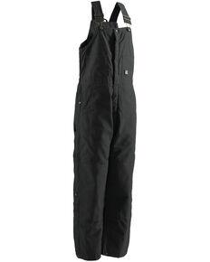 Berne Men's Brown Duck Deluxe Insulated Bib Overalls - Tall, Black, hi-res