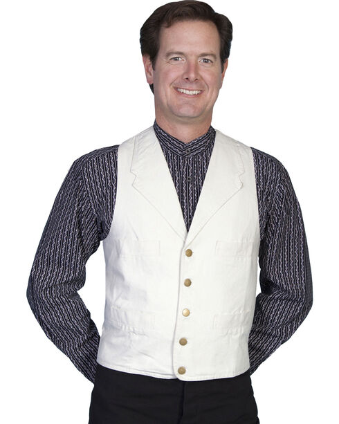 Rangewear by Scully Frontier Canvas Vest, Natural, hi-res