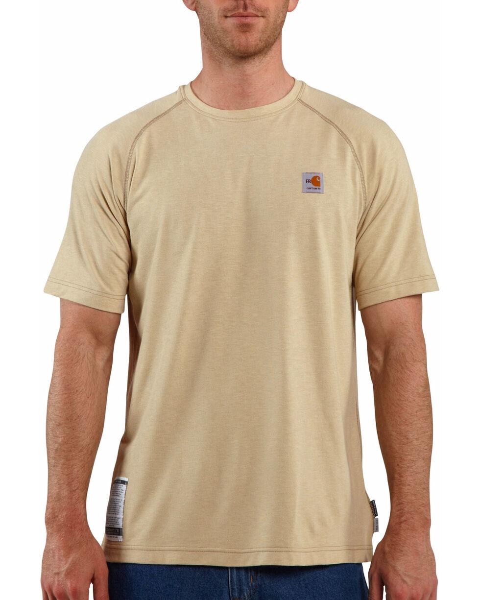 Carhartt Force Men's FR Short Sleeve T-Shirt, Beige/khaki, hi-res