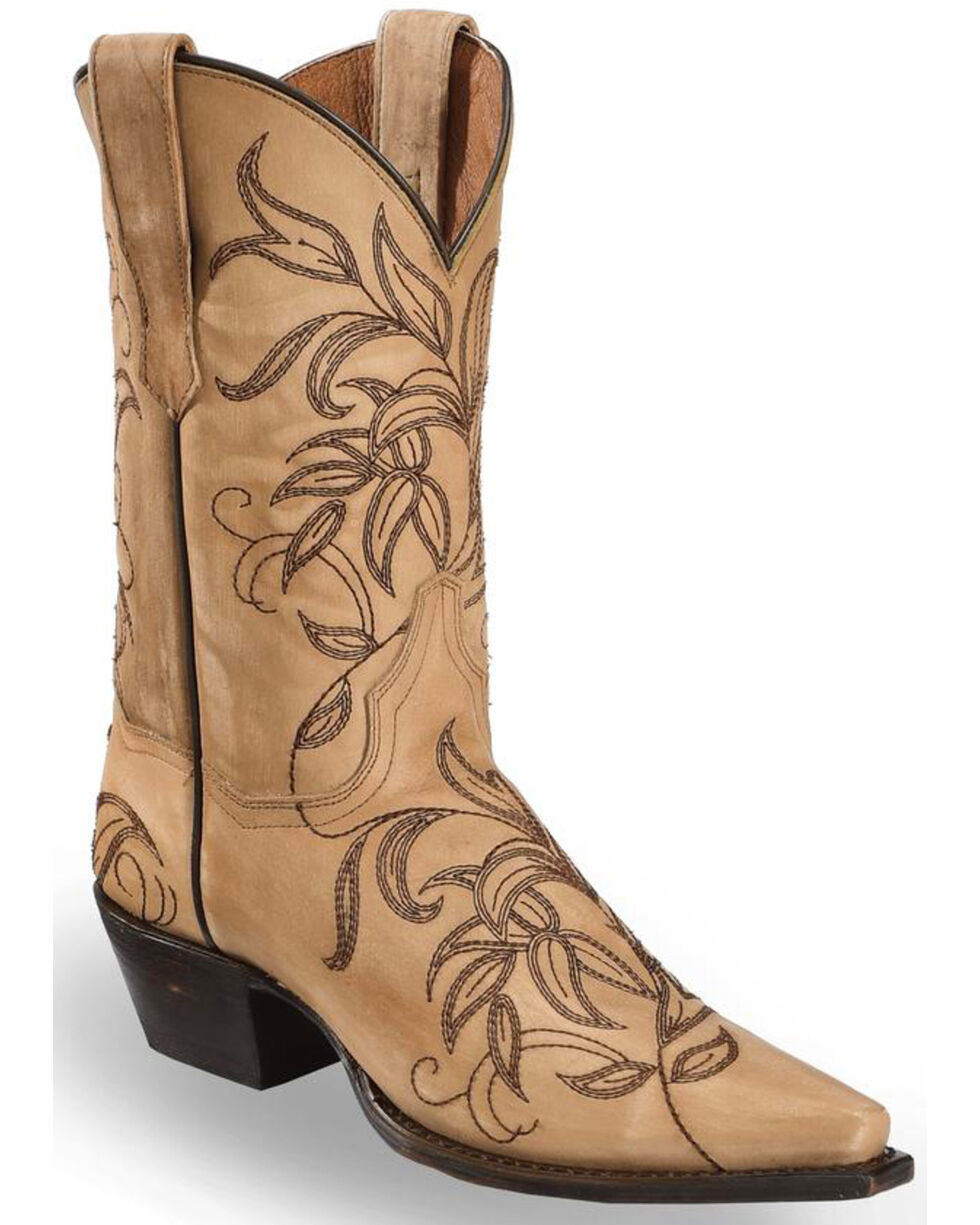 Dan Post Women's Brown Nora Western Cowgirl Boots - Snip Toe , Brown, hi-res