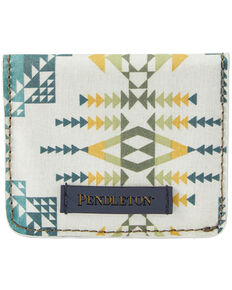 Pendleton Women's Rock Olive Snap Wallet, White, hi-res