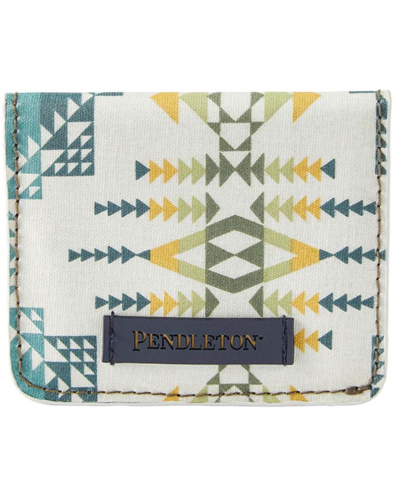 Pendleton Women's Rock Olive Snap Wallet, White, hi-res