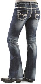 Rock & Roll Cowgirl Bootcut Riding Jeans, Denim, hi-res
