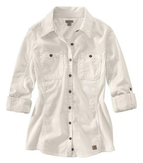Carhartt Women's Minot Shirt, White, hi-res
