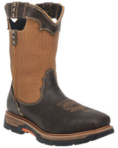 Dan Post Men's Rust Copper Scoop Waterproof Western Work Boots  - Broad Square Toe, Rust Copper, hi-res