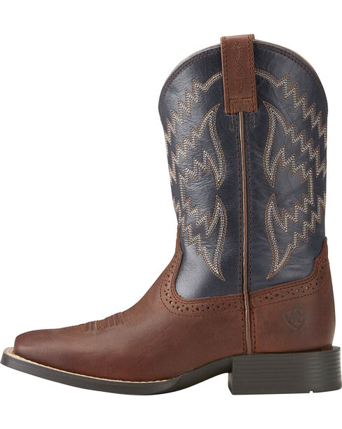 Ariat Boys' Tycoon Western Boots - Square Toe , Brown, hi-res