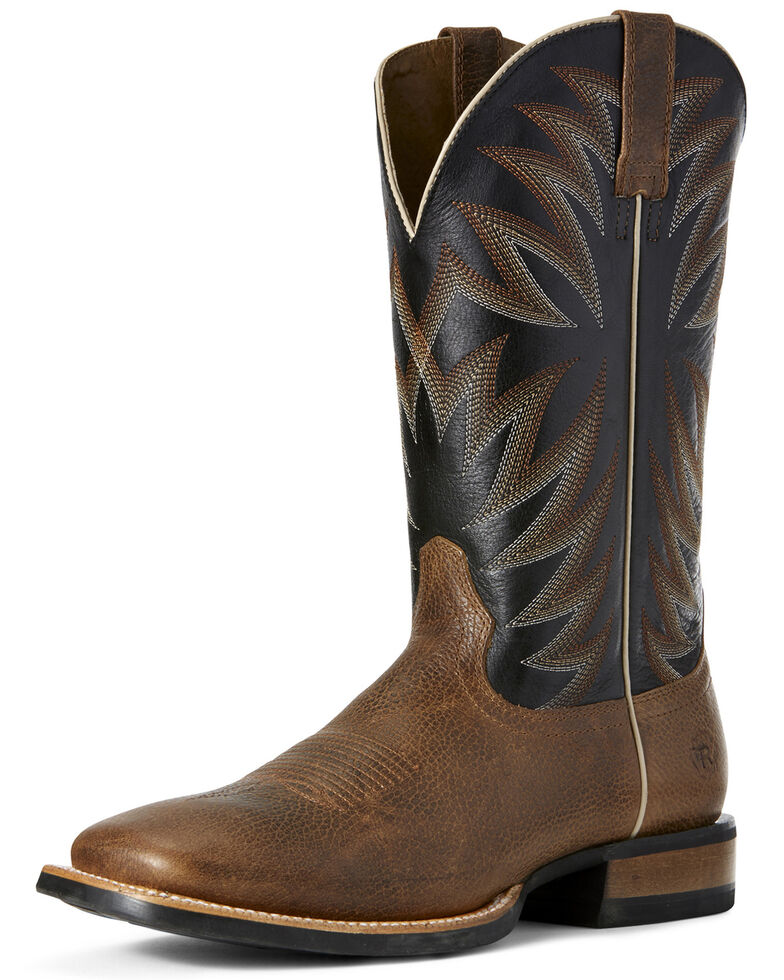 Ariat Men's Relentless Premier Western Boots - Wide Square Toe, Brown, hi-res