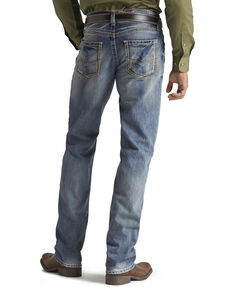 Ariat Men's M5 Ridgeline Medium Wash Slim Straight Jeans, Med Stone, hi-res