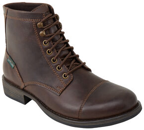 Eastland Men's Dark Brown High Fidelity Cap Toe Boots , Dark Brown, hi-res