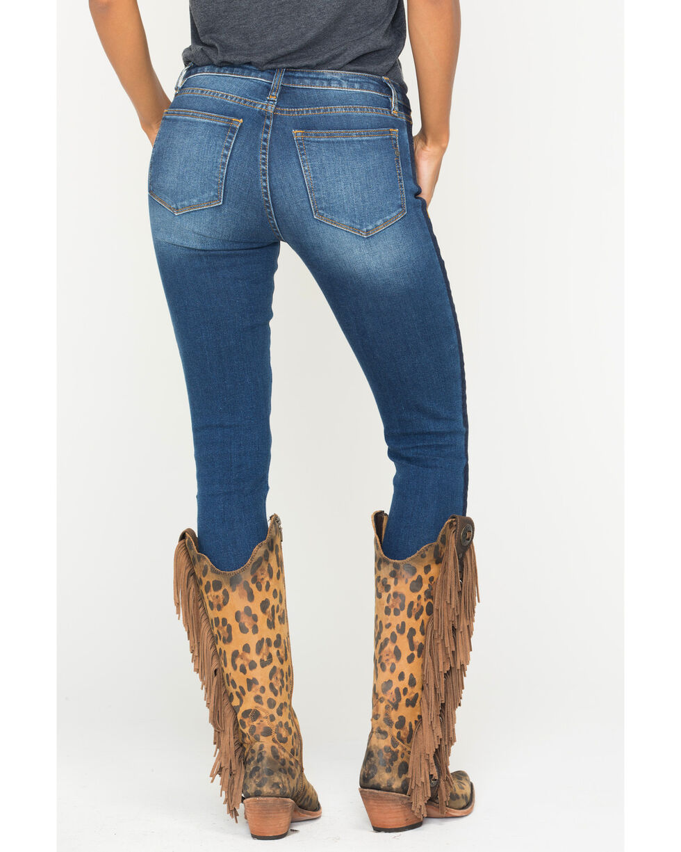 Miss Me Women's On Streak Mid-Rise Ankle Skinny Jeans, Indigo, hi-res