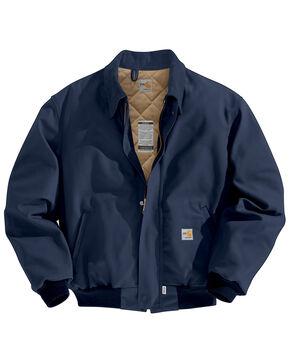 Carhartt Men's Flame-Resistant Duck Bomber Jacket, Navy, hi-res