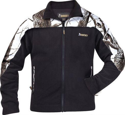 Rocky Casual Lifestyle Camo Fleece Jacket, Black, hi-res