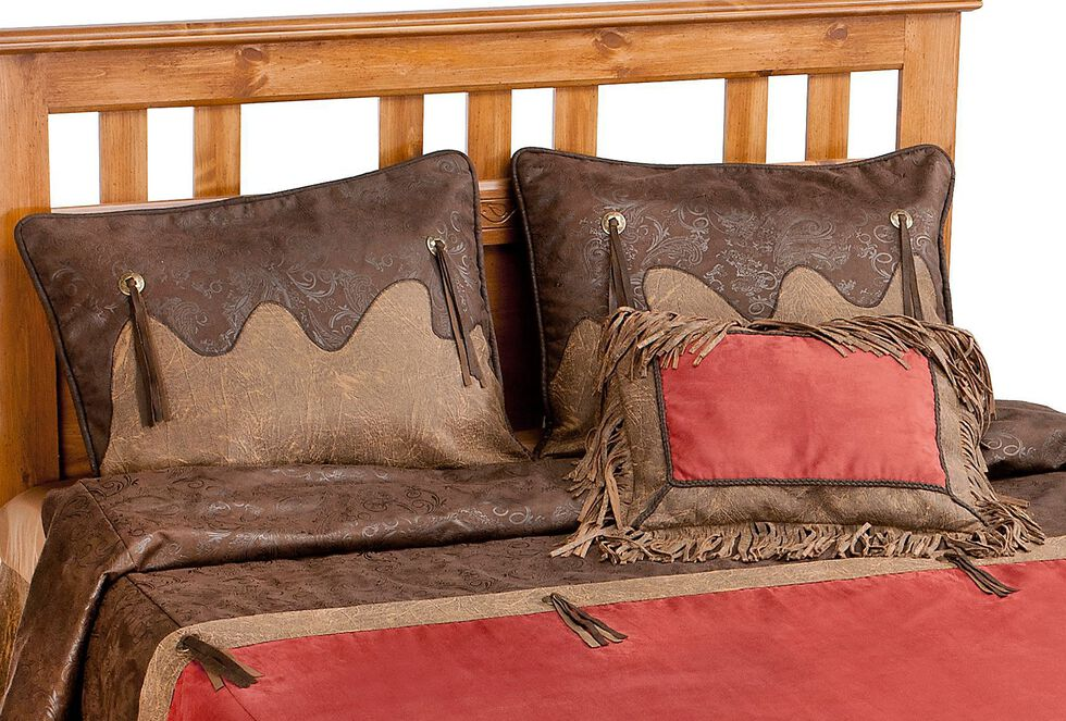 HiEnd Accents Red Rodeo Full Comforter Set, Red, hi-res
