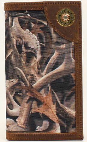 Ariat Camo Shotgun Shell Rodeo Wallet, Camouflage, hi-res