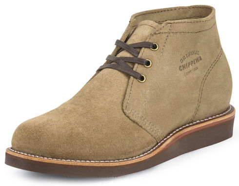 Chippewa Men's Modern Suburban Khaki Suede Shoes, Khaki, hi-res