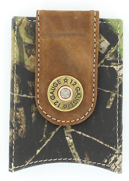 Nocona Shotgun Shell Mossy Oak Money Clip, Camouflage, hi-res
