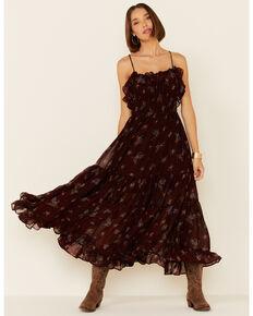 Free People Women's Cloud Nine Maxi Dress, Burgundy, hi-res