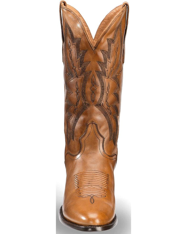 El Dorado Men's Handmade Tan Embroidered Western Boots – Medium Toe, Tan, hi-res