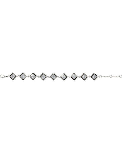 Montana Silversmiths Roped Star Lights Bracelet, Silver, hi-res