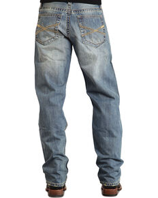 "Stetson 1520 Fit Classic ""X"" Stitched Jeans - Big & Tall, Med Wash, hi-res"