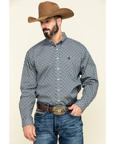 Cinch Men's Multi Medallion Geo Print Long Sleeve Western Shirt , Multi, hi-res