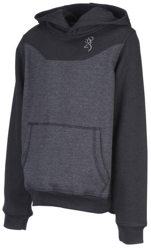 Browning Boys' Cohos Hooded Sweatshirt, Black, hi-res