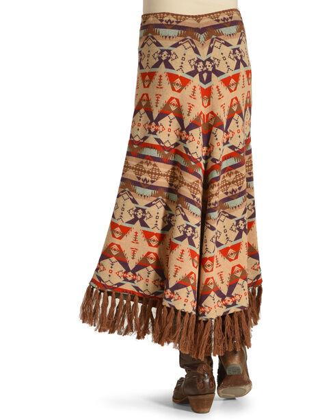 Tasha Polizzi Women's Harvest Blanket Skirt , Brown, hi-res