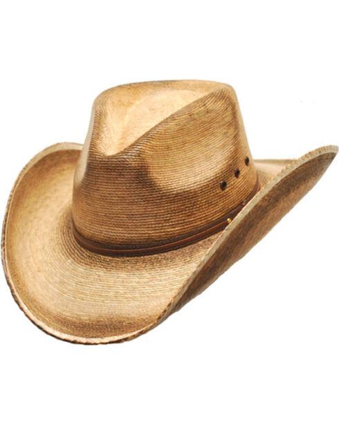 Western Express Men's Fritz Pinch Front Palm Hat, Tan, hi-res
