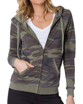 Z Supply Women's Camo Zip Hoodie, Camouflage, hi-res