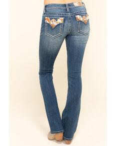 Miss Me Women's Medium Cowhide Flap Bootcut Jeans, Blue, hi-res