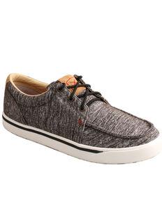 Hooey by Twisted X Men's Kicks Casual Shoes, Dark Grey, hi-res