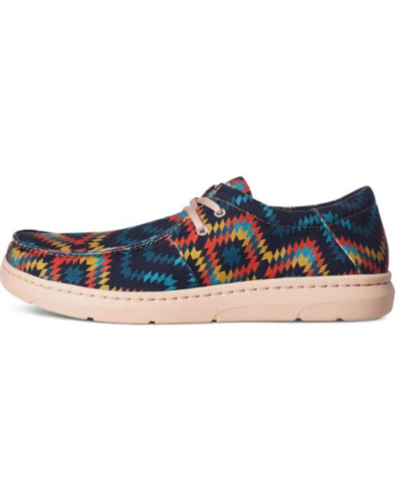 Ariat Men's Hilo Blue Aztec Casual Shoes - Moc Toe, Blue, hi-res