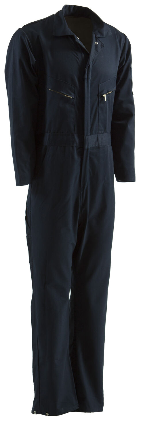 Berne Deluxe Unlined Coveralls - Tall Sizes, Navy, hi-res