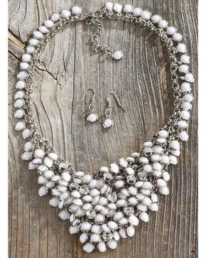 Shyanne Women's Multi White Rhinestone Jewelry Set, Silver, hi-res