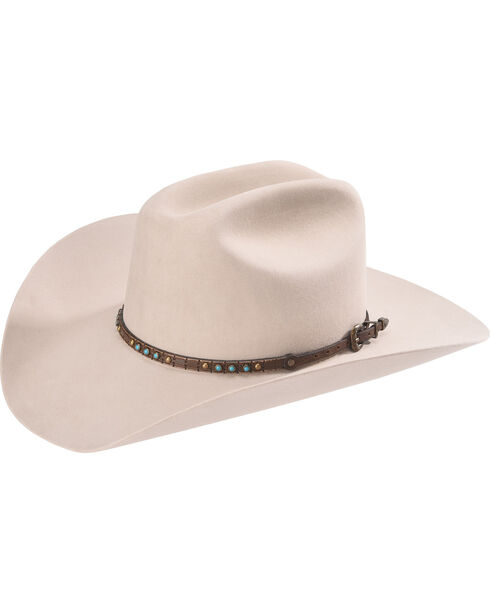 HB-7 PHC BUCKLE SET UNISEX LEATHER HAT BAND, Chocolate, hi-res