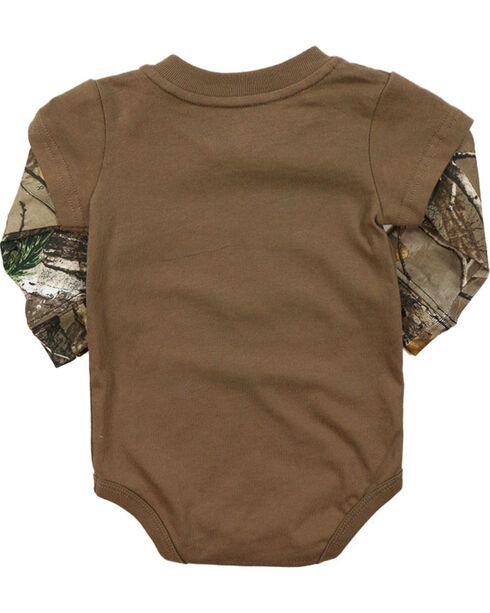 Carhartt Infant Boys' Camo Layered Onesie, Brown, hi-res