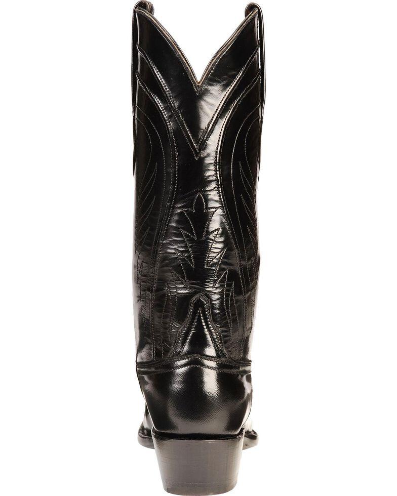 Lucchese Men's Classics Seville Goatskin Boots - Square Toe, Black, hi-res