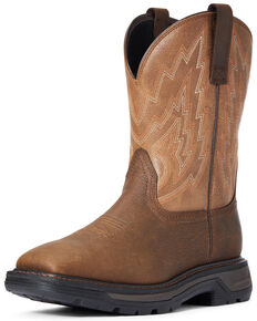 Ariat Men's Big Rig Western Boots - Square Toe, Brown, hi-res